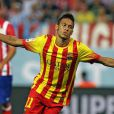 Neymar marcou seu primeiro gol em uma partida oficial pelo Barcelona nesta quarta-feira, 20 de agosto de 2013