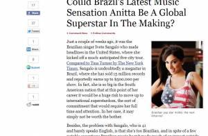 Revista 'Forbes' afirma sobre Anitta: 'A nova sensação da música'