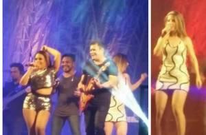 Ximbinha faz o 1° show da banda XCalypso com a nova cantora, Carla Maués. Vídeos