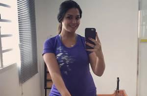 Thais Fersoza, grávida de 5 meses, pratica pilates: 'Faço 2 vezes por semana'