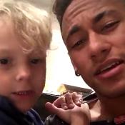 Neymar e o filho, Davi Lucca, cantam música de Jorge e Mateus. Vídeo!