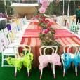 Beyoncé mostrou parte da decoração da festa de aniversário de 4 anos de sua filha, Blue Ivy