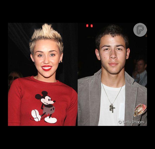 Nick Jonas lembra primeiro beijo, em Miley Cyrus, druante entrevista na rádio londirna 'BBC': 'Eu estava com péssimo hálito'