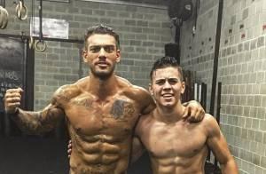 Biel e Lucas Lucco mostram barriga tanquinho após treino de crossfit: 'Irmão'