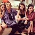 Claudia Jimenez se diverte nos bastidores da trama com Tatá Werneck, Agatha Moreira e Grace Gianoukas