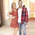 Ex-BBB16 Matheus esteve com Cacau no 'Encontro com Fátima Bernardes'