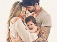 Ex-BBBs Adriana Sant'Anna e Rodrigão exibem rosto do filho pela 1ª vez. Fotos!
