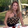 Ao lado de Otaviano Costa, Maíra Charken usou o top frente única para apresentar o 'Vídeo Show' nesta segunda-feira, 18 de abril de 2016