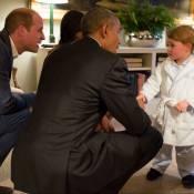 Príncipe George rouba a cena em encontro com o presidente Barack Obama. Fotos!