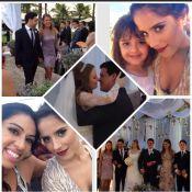 Zezé Di Camargo e Zilu entram de mãos dadas em casamento de sobrinho
