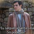 Félix (Mateus Solano) não acredita na própria falta de sorte e solta uma versão de seu bordão em 'Amor à Vida': 'Será que eu dancei pole dance na Santa Cruz para sofrer isso tudo?'