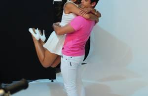 Carol Nakamura exibe o corpão em ensaio romântico com o noivo, Sidney Sampaio