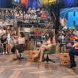 Anitta participa do programa 'Altas Horas' junto com Vanessa Giácomo, Leandro Hassum e Paula Fernandes