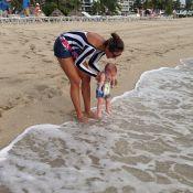 Filho de Flávia Sampaio e Eike Batista curte praia em Miami: 'Primeira vez'