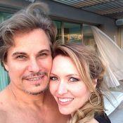 Edson Celulari posta foto em clima romântico com a namorada: 'Dia de primavera'