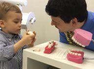 Ana Hickmann leva o filho, Alexandre Jr., ao dentista: 'Dia muito legal'. Vídeo!