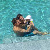 Michael Phelps posa na piscina com noiva e filho após Olimpíada: 'Aposentadoria'