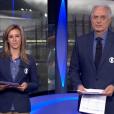 William Waack e Cris Dias teriam sido repreendidos pela direção da Globo por desentendimento durante apresentação do 'Jornal da Globo'