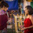 Iolanda (Christiane Torloni) convidará Olívia (Giulia Buscacio) para o jantar que oferecerá em sua casa