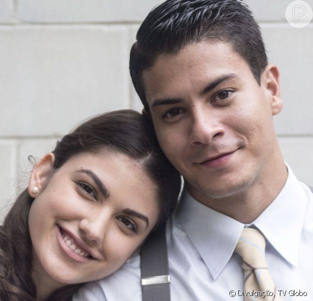 No último capítulo da novela 'Êta Mundo Bom!', Osório (Arthur Aguiar) e Gerusa (Giovanna Grigio) se casam após a morte da jovem