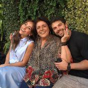 Sabrina Sato almoça com a sogra, Leda Nagle, e o namorado, Duda: 'Cheio de amor'