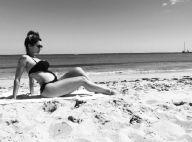 Kelly Key exibe barriga de grávida ao posar em praia e fãs elogiam: 'Belíssima'
