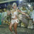 Quitéria Chagas ressalta a importância de uma rainha de bateria no desfile: 'Tem que ter conhecimento do espaço cênico'