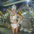 No Carnaval deste ano, Quitéria Chagas fez bonito na Marquês de Sapucaí