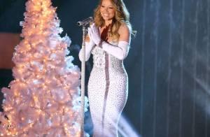 Mariah Carey aposta em vestido justo em inauguração de árvore de Natal em NY