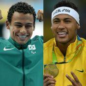 Ouro na Paralimpíada, Daniel Martins brinca por comparação a Neymar:'Acostumado'