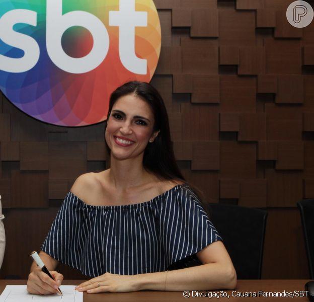 Chris Flores, já no SBT, avalia Record, antiga emissora, em entrevista nesta sexta-feira, dia 09 de setembro de 2016