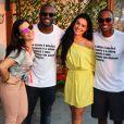 Fernanda Souza, Thiaguinho e Luciano Huck também estiveram presentes na festa do ator de 'Sol Nascente'