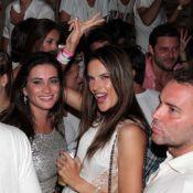 Alessandra Ambrósio cai na pista de dança em festa de Réveillon em Florianópolis