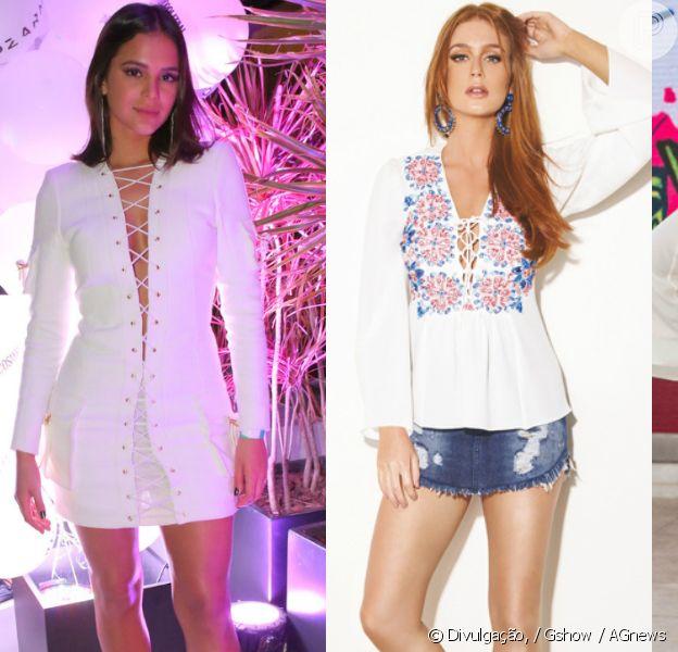 Veja fotos de famosas como Bruna Marquezine, Marina Ruy Barbosa, Fátima Bernardes e outras adeptas da tendência de looks trançados