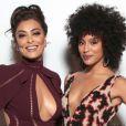 Juliana Paes e Sheron Menezzes apostam em looks decotados para ir em evento de gala, em Nova York