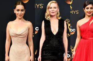 Veja fotos dos looks de Emilia Clarke, Kirsten Dunst e mais famosas no Emmy 2016