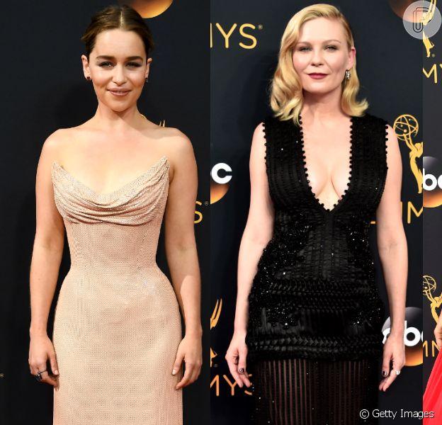 Veja fotos dos looks de Emilia Clarke, Kirsten Dunst e mais famosas no Emmy 2016, que aconteceu na noite deste domingo, 18 de setembro de 2016, no Microsoft Theater, em Los Angeles, nos Estados Unidos