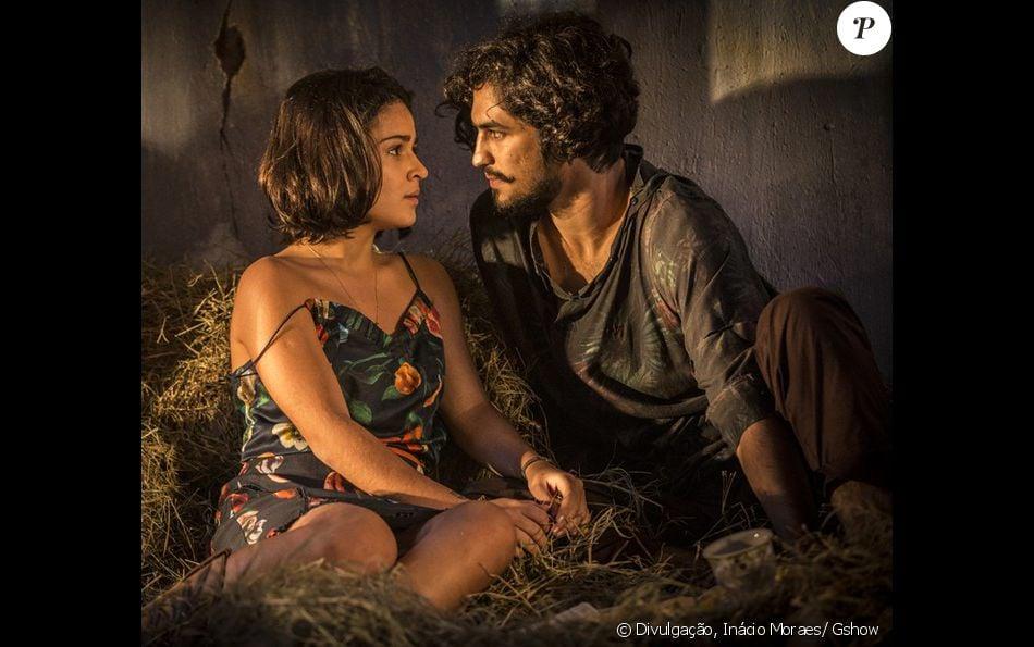 """Olívia (Giullia Buscacio) e Miguel (Gabriel Leone) tem um casal de gêmeos no final da novela """"Velho Chico"""", que termina dia 30 de setembro de 2016"""