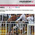 O italiano 'Gazzetta dello Sport' chamou o episódio de 'selvageria'