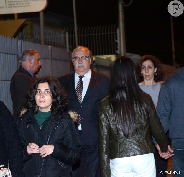 Amigos e familiares de Domingos Montagner se reuniram para missa de sétimo dia do ator em São Paulo nesta quarta-feira, dia 21 de setembro de 2016