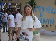 Ex-BBB Cacau exibe nova silhueta em gravação de DVD de dupla sertaneja, no Rio