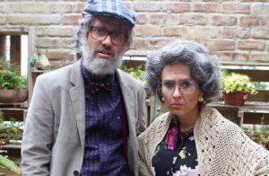 'Haja Coração': Fedora e Leozinho se disfarçam de velhos para sabotar Tancinha