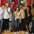 Marcelo Serrado e Ney Latorraca se divertem com o elenco de 'Alexandre e Outros Heróis'