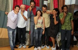 Ney Latorraca se diverte na coletiva de 'Alexandre e Outros Heróis', da TV Globo