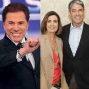 Silvio Santos ironiza divórcio de Fátima Bernardes e William Bonner:'Desconfiei'
