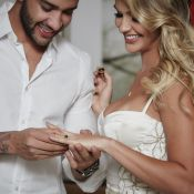 Gusttavo Lima e a mulher, Andressa Suíta, se casam no religioso em Goiânia