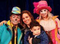 Wanessa leva o filho João Francisco ao circo e posa usando nariz de palhaço