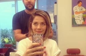 Grávida de três meses, Luma Costa muda o visual e corta os longos cabelos