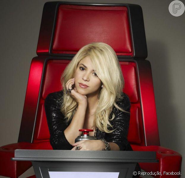 Shakira é a nova jurada do programa 'The Voice', nos Estados Unidos, e teve a primeira imagem na cadeira vermelha divulgada nesta sexta-feira, 4 de janeiro de 2013