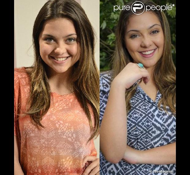 Polliana Aleixo engordou 5kg para viver personagem que será vítima de bullying na novela 'Em Família'. Veja o antes e depois
